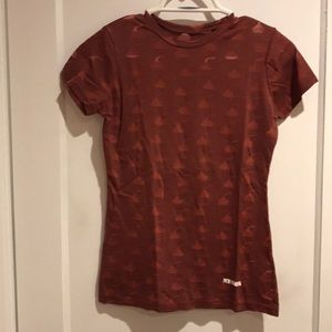 Hershey kiss tee with sheer see through kisses.